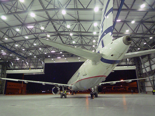 AIRCRAFT MAINTENANCE HANGAR AT THE ATHENS INTERNATIONAL AIRPORT, ELEFTHERIOS VENIZELOS