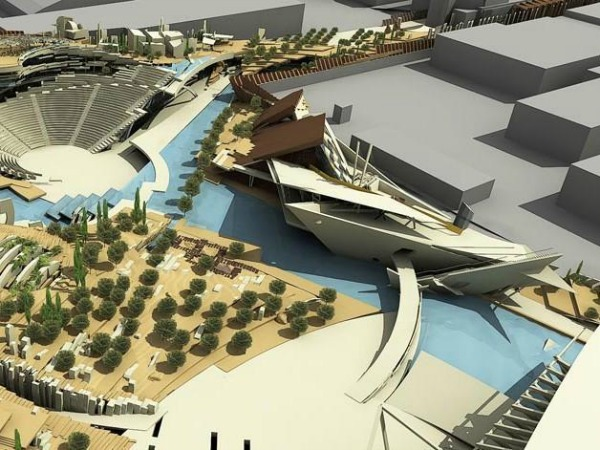 FOUNDATION OF THE HELLENIC WORLD -  BUILDING COMPLEX OF YOUTH MUSEUM, ARTS CENTER, INTERACTIVE MEDIA CENTER, ETC. AND RETAINING DESIGN FOR THE WHOLE PROJECT